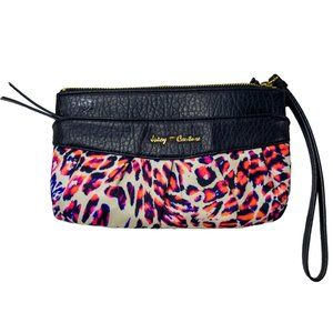 Juicy Conture Wallet Pink and White Leopard Print